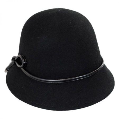 Betmar Cristina Wool Felt Cloche Hat