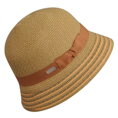 Betmar Tricia Straw Cloche Hat