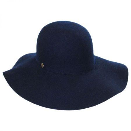 Karen Kane Raw Edge Wool Felt Floppy Sun Hat