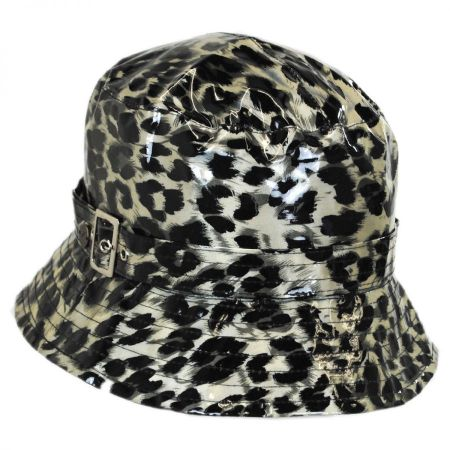 Karen Kane Leopard Rain Bucket Hat