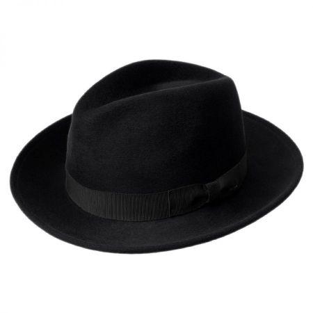 Criss Wool Felt Long Teardrop Fedora Hat alternate view 1