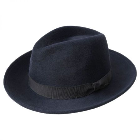 Criss Wool Felt Long Teardrop Fedora Hat alternate view 3