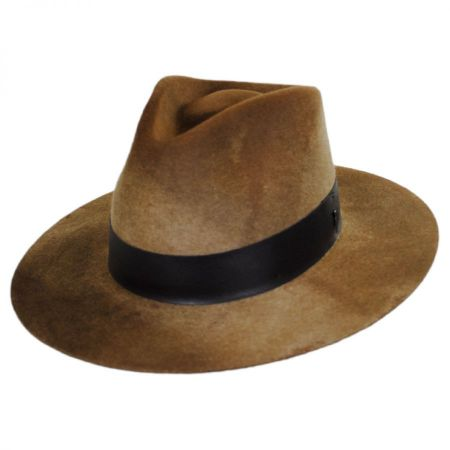 Hillman Wool Felt and Leather Fedora Hat alternate view 1