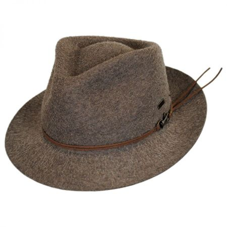 Kangol Snap Carter Wool Felt Fedora Hat