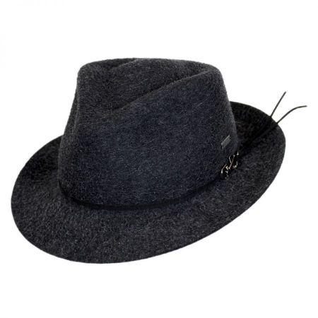 Snap Carter Wool Felt Fedora Hat