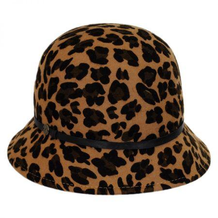 Karen Kane Leopard Wool Felt Cloche Hat