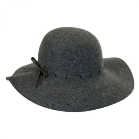 Laced Suede Band Wool Felt Floppy Hat alternate view 1