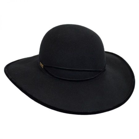 Betmar Marseille Velvet and Wool Felt Swinger Hat