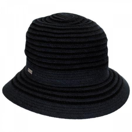 Betmar Landis Velvet Stripe Cloche Hat
