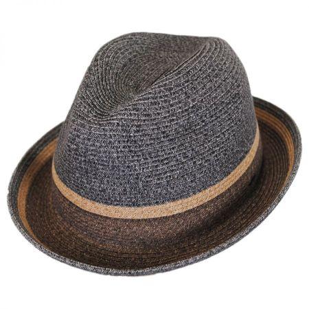Grimet Toyo Braid Straw Trilby Fedora Hat alternate view 9