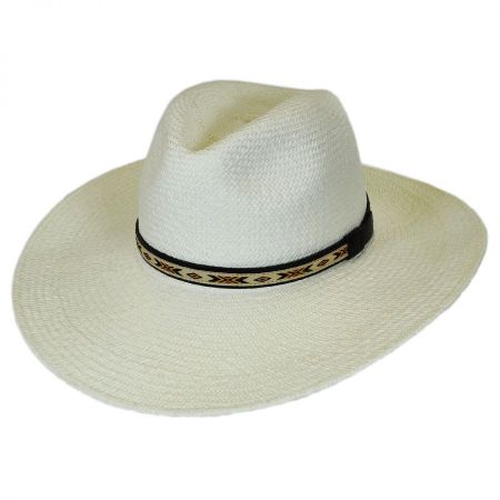 Pantropic Southwest Panama Straw Wide Brim Fedora Hat