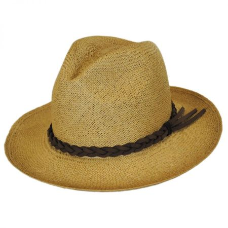 Twisted Panama Straw Safari Fedora Hat alternate view 1