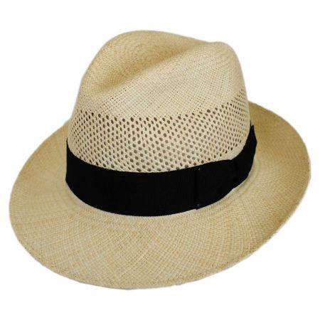 Bailey Groff Vent Panama Straw Fedora Hat