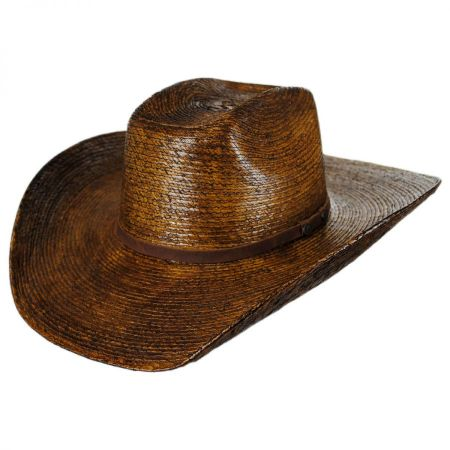 Fender Palm Straw Cattleman Western Hat alternate view 5