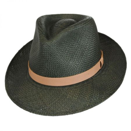 Bailey Gelhorn Panama Straw Tear Drop Fedora Hat
