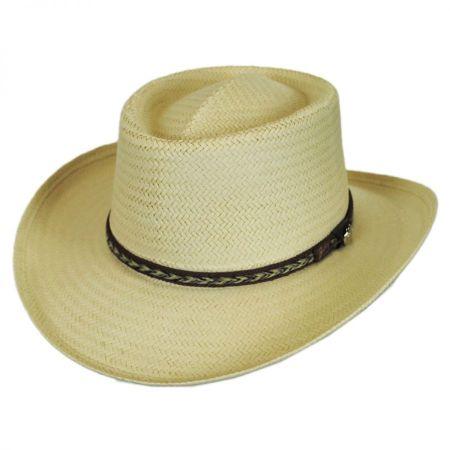 Bailey Rockett Raindura Straw Gambler Hat