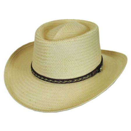 Bailey Rockett Raindura Straw Gambler Hat