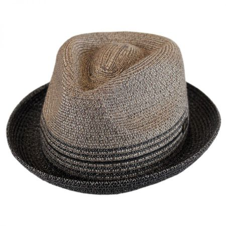 Hooper Toyo Straw Blend Trilby Fedora Hat alternate view 1