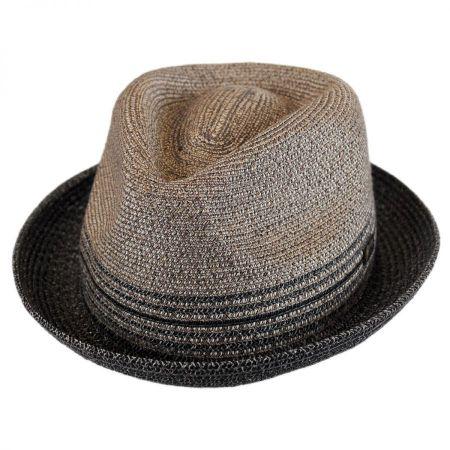 Hooper Toyo Straw Blend Trilby Fedora Hat alternate view 29