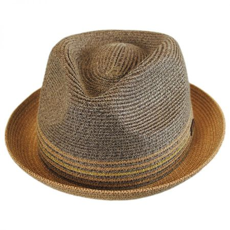 Hooper Toyo Straw Blend Trilby Fedora Hat alternate view 17