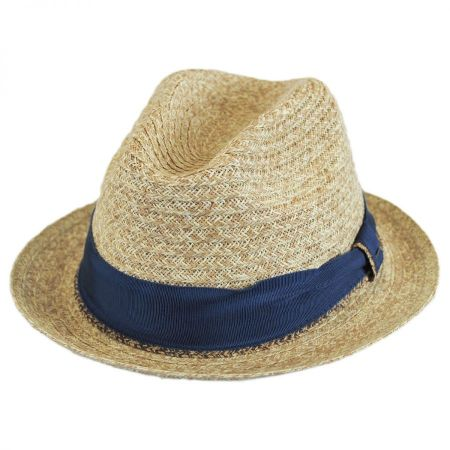 Romeo Raffia Straw Blend Trilby Fedora Hat