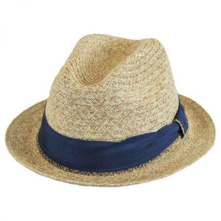 Romeo Raffia Straw Blend Trilby Fedora Hat alternate view 11