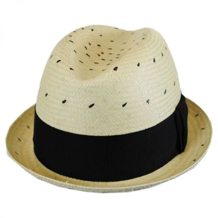 Tor Short Panama Straw Trilby Fedora Hat alternate view 1