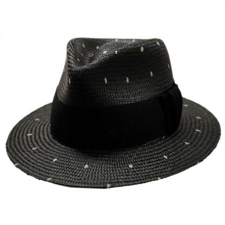 Tor Panama Straw Tear Drop Fedora Hat alternate view 1