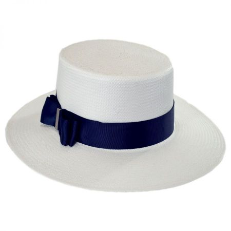 Betmar Esther Toyo Straw Boater Hat