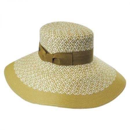 Audrey Toyo Straw Blend Downbrim Hat alternate view 5
