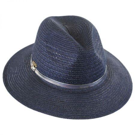Tia Vent Crown Toyo Straw Fedora Hat alternate view 5