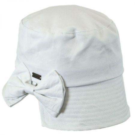 Gigi Split Brim Cotton Bucket Hat alternate view 1