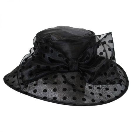 Betmar Suellen Velvet Dot Organza Downbrim Hat