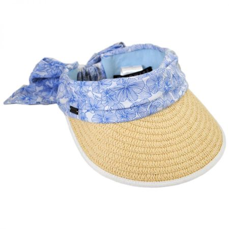 Betmar Cannes Cotton and Toyo Straw Visor