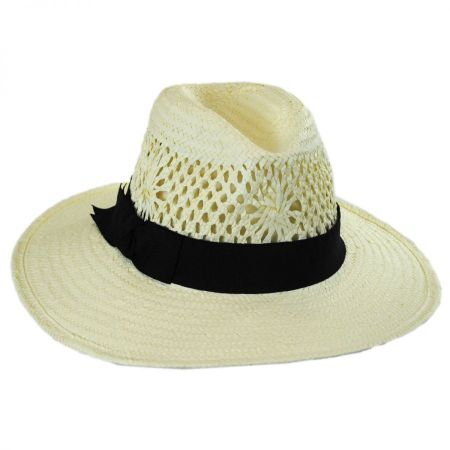 Monaco Toyo Straw Fedora Hat