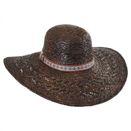 Karen Kane Raffia Straw Floppy Wide Brim Hat