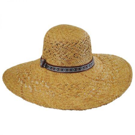 Raffia Straw Floppy Wide Brim Hat alternate view 5