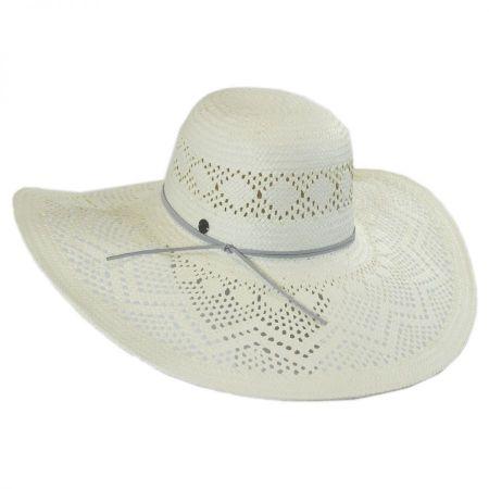 Karen Kane Pointelle Toyo Straw Floppy Hat