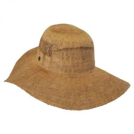 Karen Kane Fine Weave Toyo Straw Floppy Hat