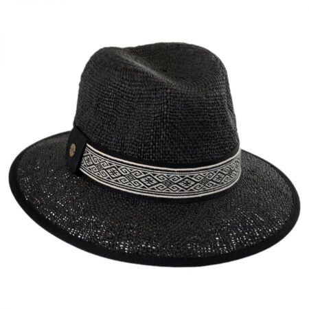 Jacquard Band Toyo Straw Fedora Hat alternate view 1
