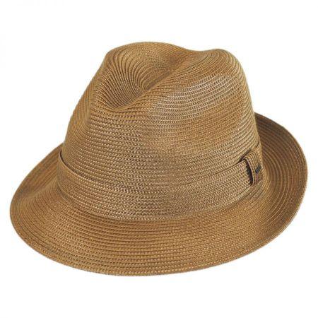213491cf1b432 Straw Trilby at Village Hat Shop