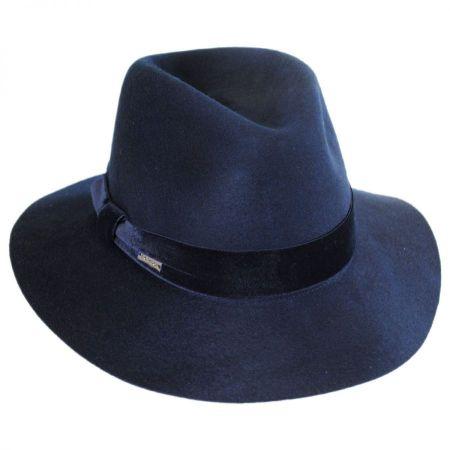 Navy Fedora at Village Hat Shop 3076066607b