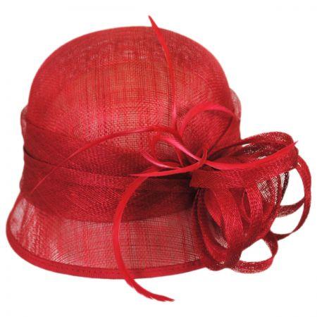 Sophia Rosa Straw Cloche Hat
