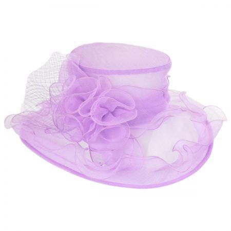 Sophia Volants Organza Boater Hat