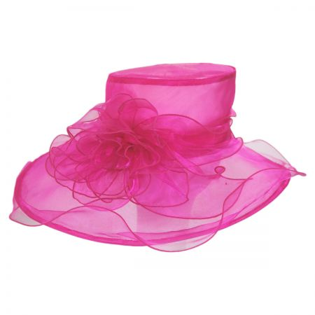 Sophia Sherbet Organza Boater Hat