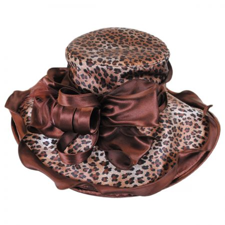 Sophia Sauvage Satin Boater Hat