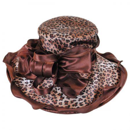 Sophia Sauvage Satin Boater Hat