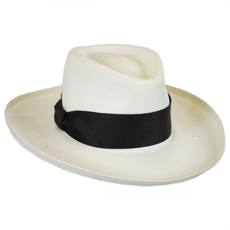 Betmar Jill Toyo Straw Wide Brim Fedora Hat