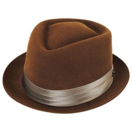 Myers Wool Felt Diamond Crown Fedora Hat alternate view 13