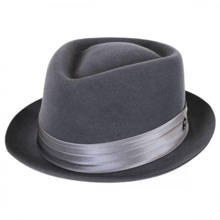 Myers Wool Felt Diamond Crown Fedora Hat alternate view 9